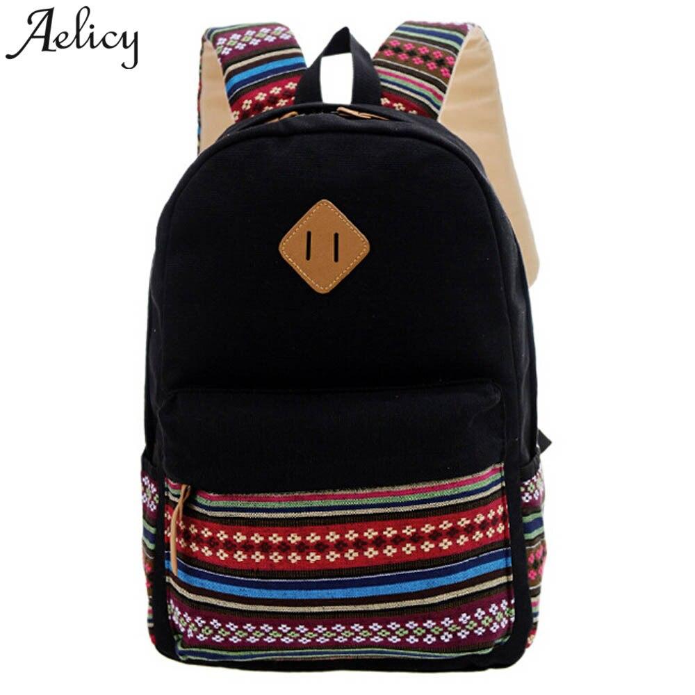 Aelicy Women Backpack !!! Rucksack Girls School Bag Satchel Travel Canvas Boys Backpack Bags For Women 2019 Mochila Feminina Hot
