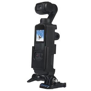 Image 2 - マウントブラケットホルダーdji osmoポケットジンバルカメラハウジングシェルケースカバーアクションカムのためのマウント三脚バックパック胸ベルト
