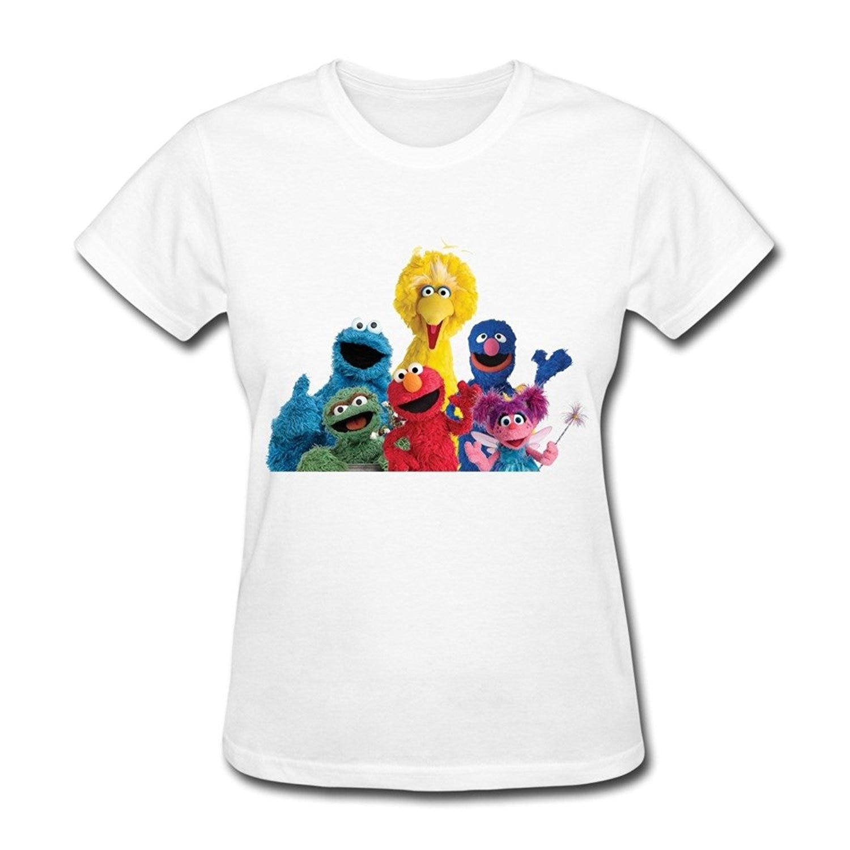 Shirt design companies - Company T Shirt Design Short Cotton O Neck Sesame Street Logo Art Women S Comfort Soft O Neck Short Sleeve Shirt