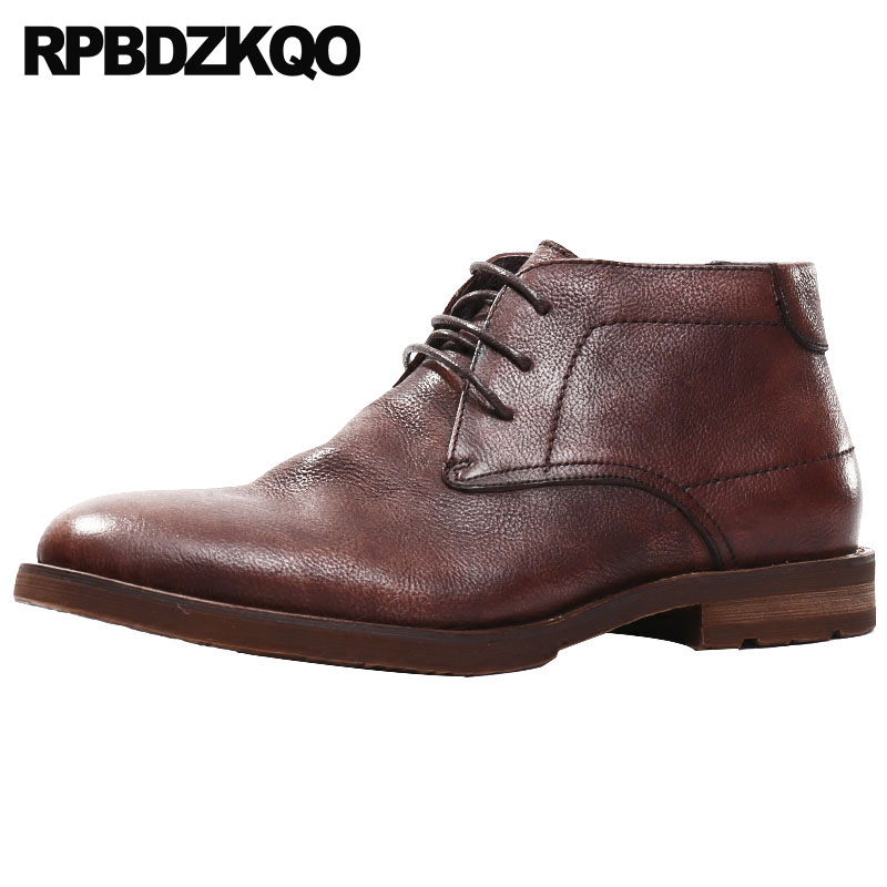 Booties 2018 Burgundy Full Grain High Top Genuine Leather Oxford Lace Up Formal Mens Pointed Toe Dress Boots Shoes HandmadeBooties 2018 Burgundy Full Grain High Top Genuine Leather Oxford Lace Up Formal Mens Pointed Toe Dress Boots Shoes Handmade