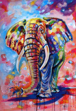 Watercolor Elephant 5D DIY Diamond Painting Full Square  Embroidery Mosaic Animal Paintings From Crystals