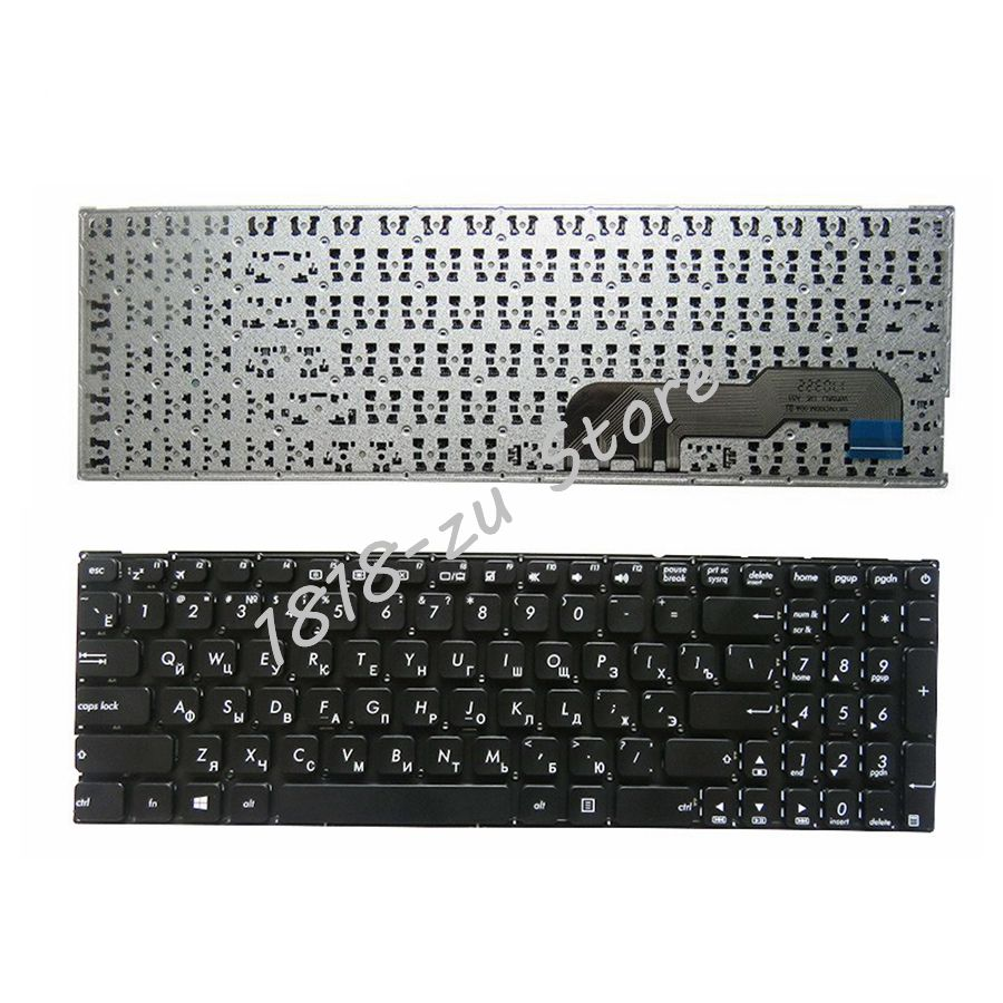 YALUZU NEW Russian Keyboard For Asus X541 X541U X541UA R541UA K541 X541UV X541S X541SC X541SC X541SA RU Laptop Black Keyboard