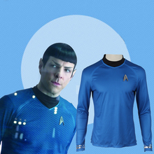 Star trek into darkness Spock science officer  Leonard McCoy Bones Cosplay Costume Blue Shirt Anime Suit Halloween Dress for Men