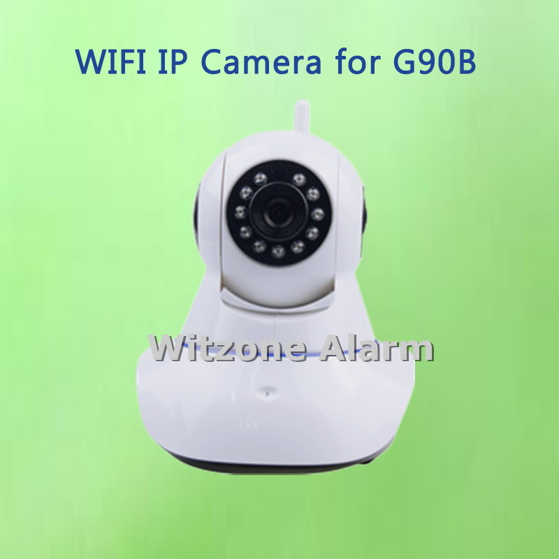 IOS Android APP Supported WIFI Indoor IP Camera Compatible with WIFI GSM Alarme System GS-G90B, Free Shipping