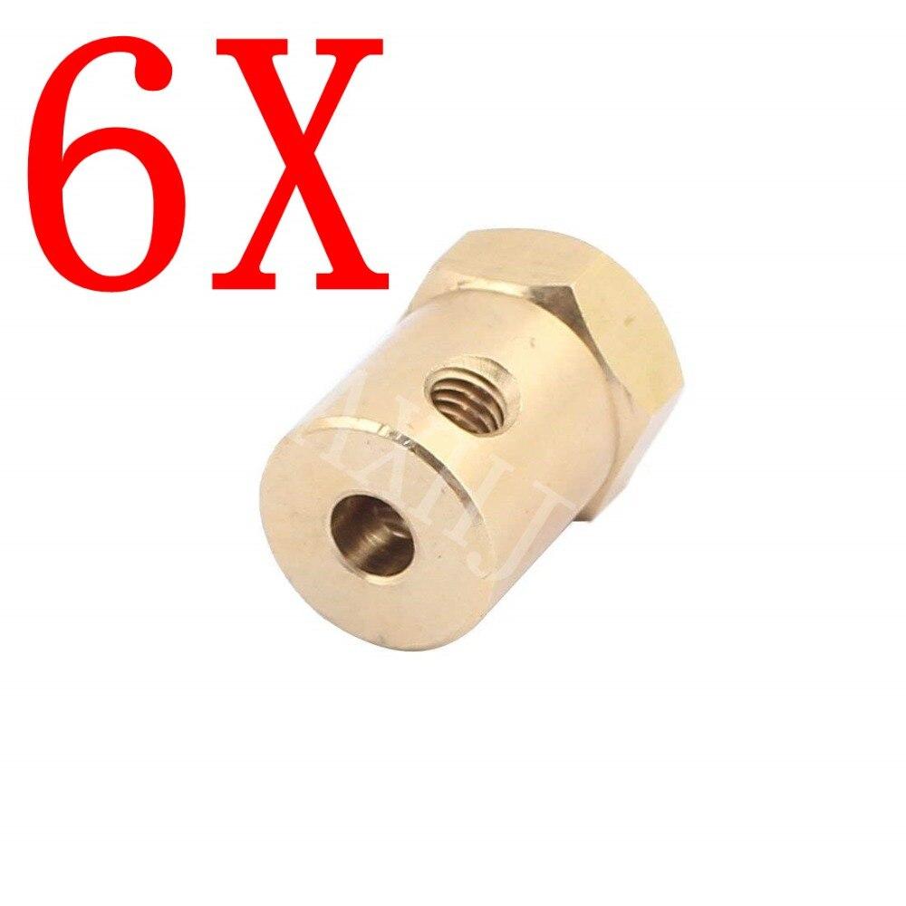 1 шт., 4 мм латунь Hex Соединительная муфта муфты двигателя разъем RC HM аксессуары + шестигранный ключ винты