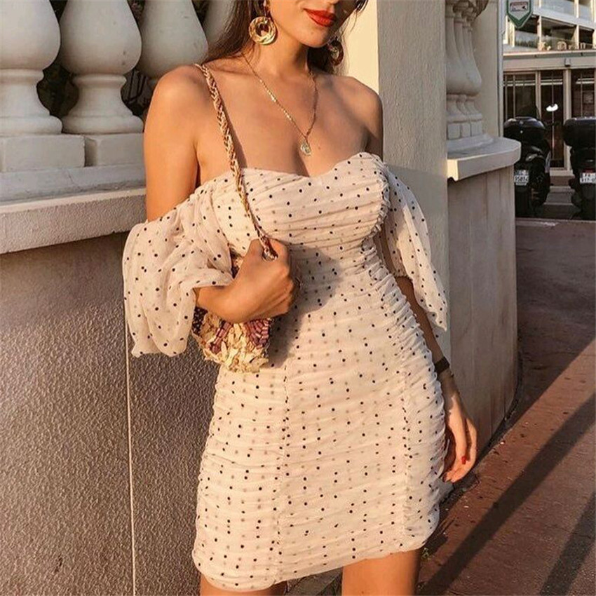 Elegant Slim Fit V Neck Mini Dress