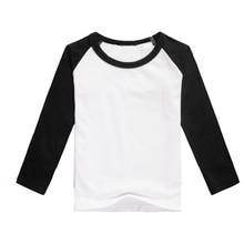 cheap raglan shirts children blank raglan t-shirts long sleeve clothes toddler plain style