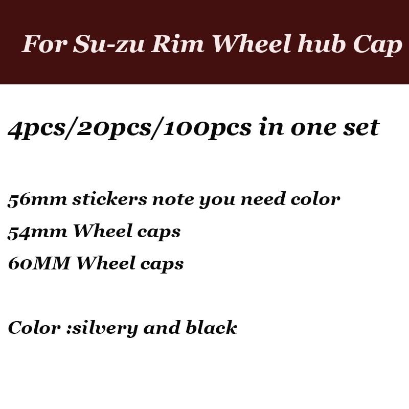 цена на 4pcs/20pcs/100pcs 54mm wheel hub caps /56mm Car stickers /60mm Rims Car Emblem Wheel hub cover For suzuki Swift Alto SX4 Jimnty
