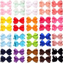 40Pcs 3 inch Baby Girl Solid Ribbon Hair Bows Alligator Clips for Toddlers,Kids,Children(China)