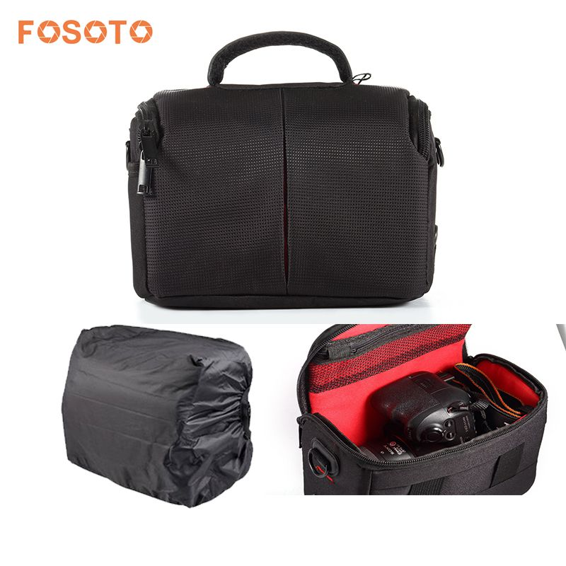 fosoto Waterproof Video Camera Bag Case for Canon 600D 650D 700D 100D 500D 550D 1100D 1200D 60D 70D 6D 7D T5i SX60 SX50 DSLR