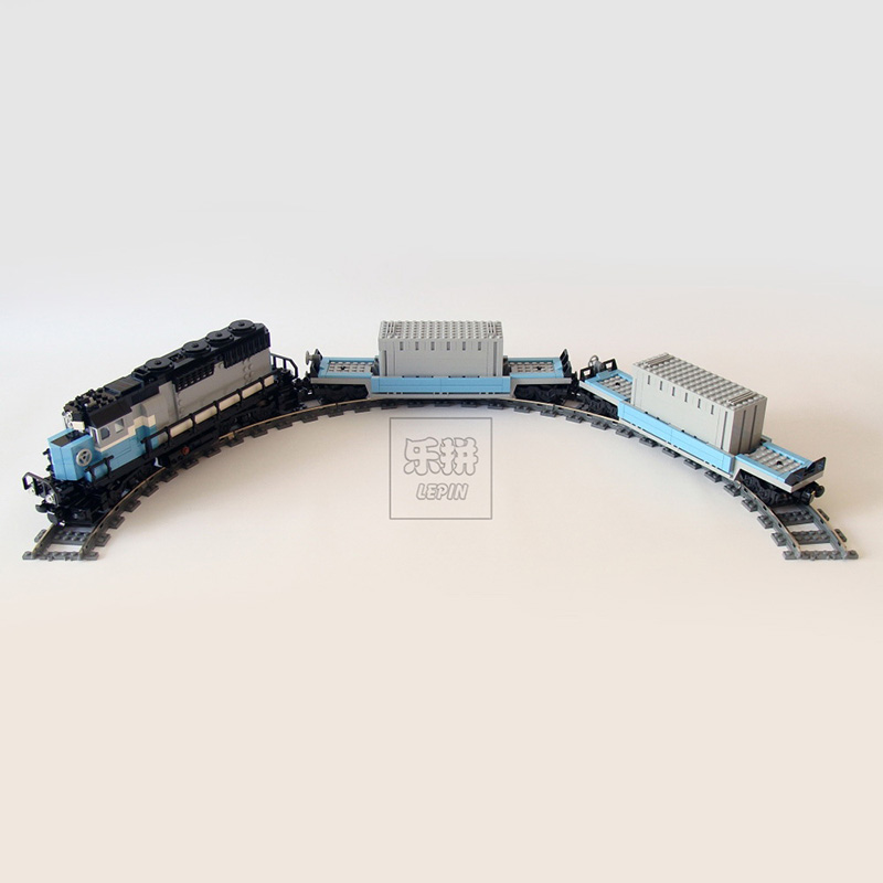 Lepin 21006 1234pcs New Genuine Technic Ultimate Series The Maersk Train Set Building Blocks Bricks Toys Compatible legoed 10219 lepin 22002 1518pcs the maersk cargo container ship set educational building blocks bricks model toys compatible legoed 10241