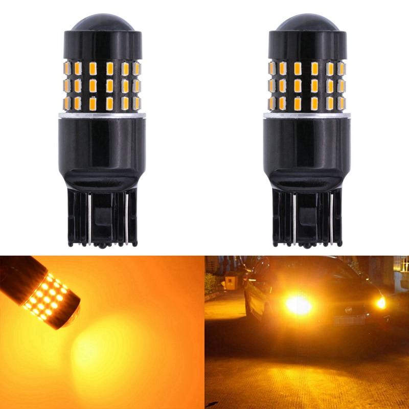 Katur 2x T20 7443 7440 992 Led 650 Lumens Energy Saving Amber Light Car LED Bulbs Backup Light Turn Signal Lamp Car Light Source 2x60w amber orange canbus error free xbd chips led t20 7440 w21w 7443 w21 5w 12 24v trucks led car turn signal light bulb