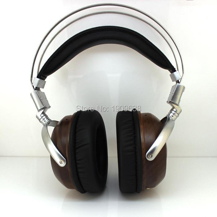 HiFi Wooden Metal Headphone Studio DJ Headset Monitor Guitar Rock DIY handmade custom Big Earphones