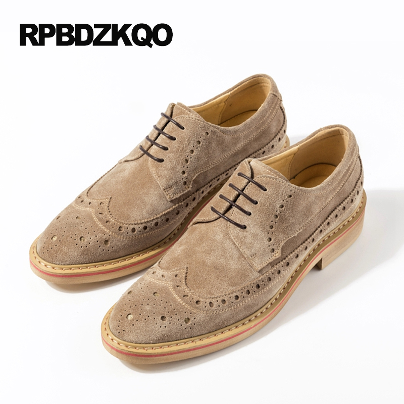 2017 Creepers High Quality Oxfords Wingtip Slip Resistant Business Casual Men Shoes British Style Black Fashion Party Brogue