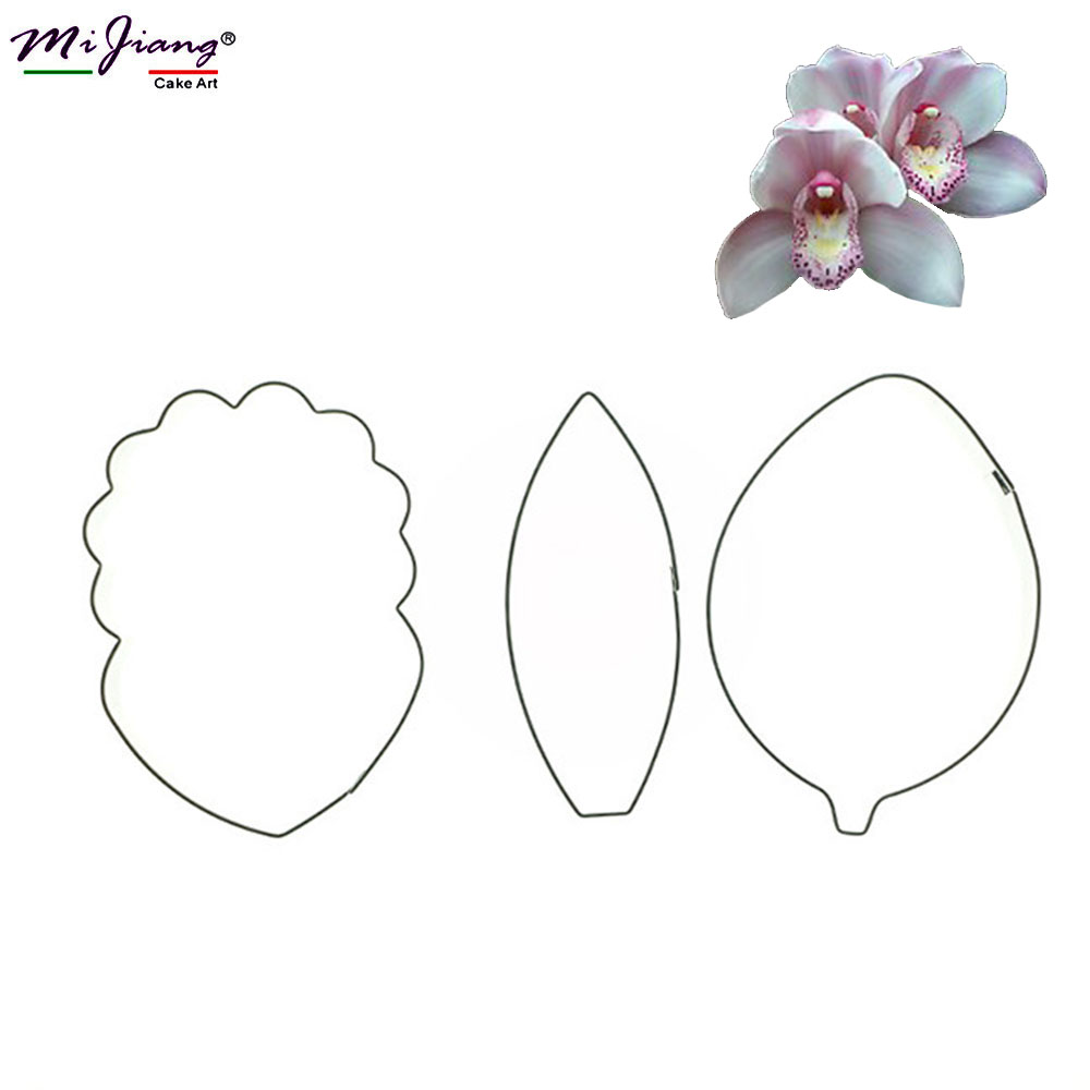 3 pz / set In Acciaio Inox Farfalla Orchidea Decorazione Del Fondente Cookie Cutter Cake Decorating Tools Accessori Da Cucina SA345