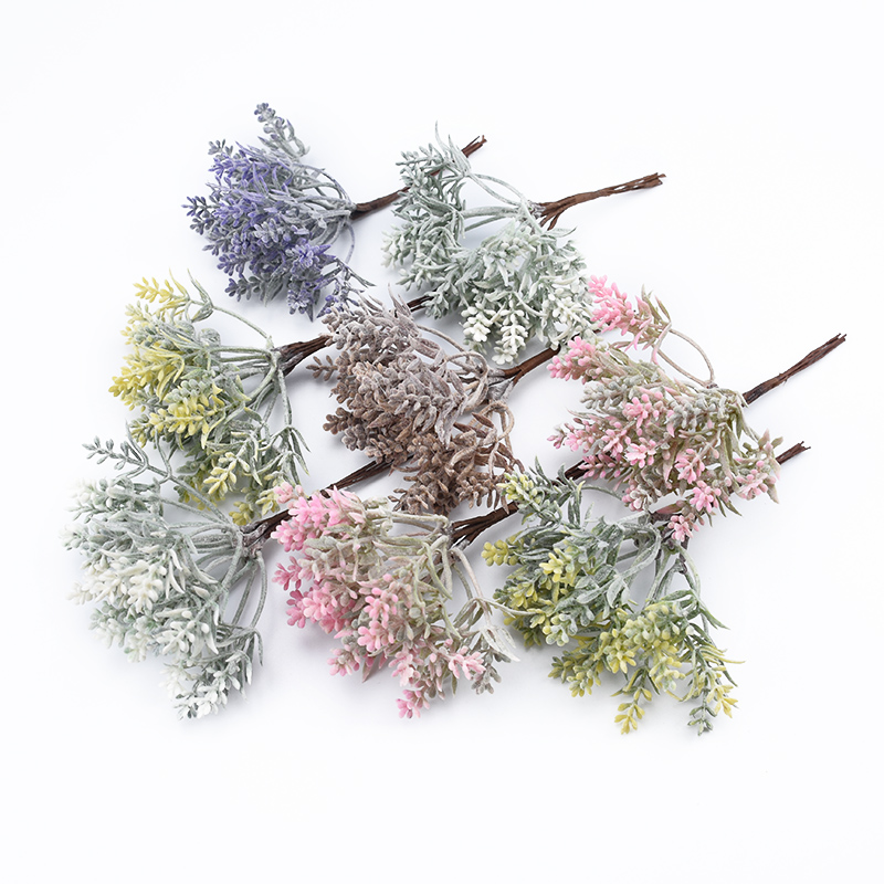 6pcs Artificial Plants Decorative Flowers For Scrapbooking Wases Home Decoration Christmas Wedding Bridal Accessories Clearance