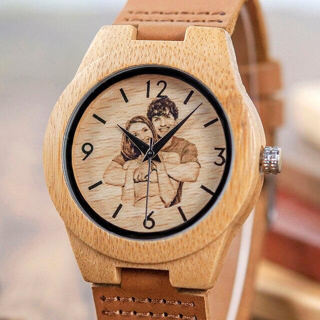 Reloj madera personalizado impresión UV Hombre-mujer 2