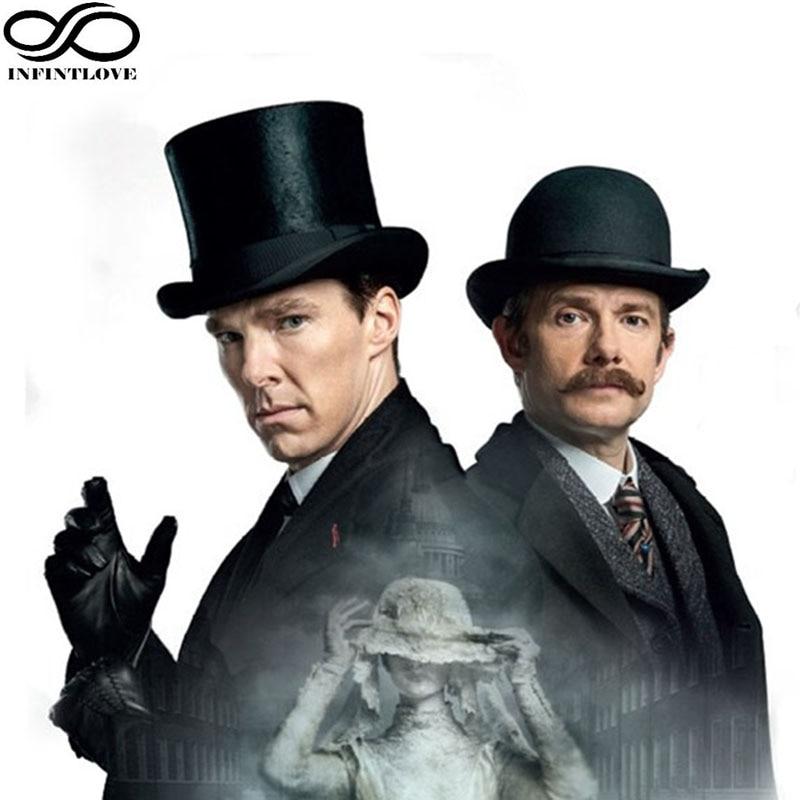 LUCKYLIANJI Vintage Steampunk Viktoriánské Formální Top Vlna Cítil Kouzelník Fedoras Mad Hatter Prezident Sherlock Holmes Holmes Hat