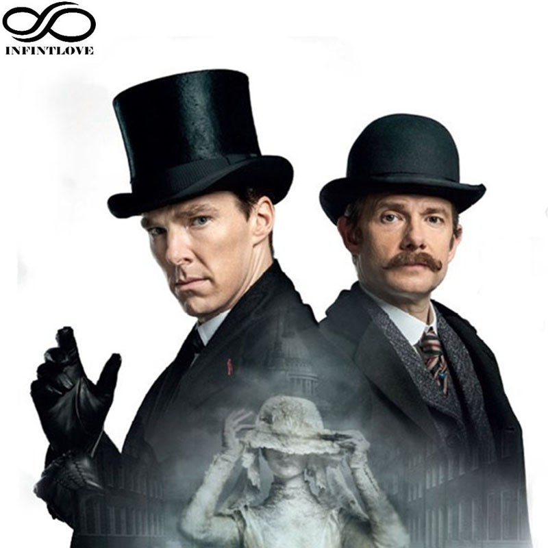 LUCKYLIANJI Vintage Steampunk viktorianischen formale Top Wollfilz Magier Fedoras Hutmacher Präsident Sherlock Holmes Holmes Hut