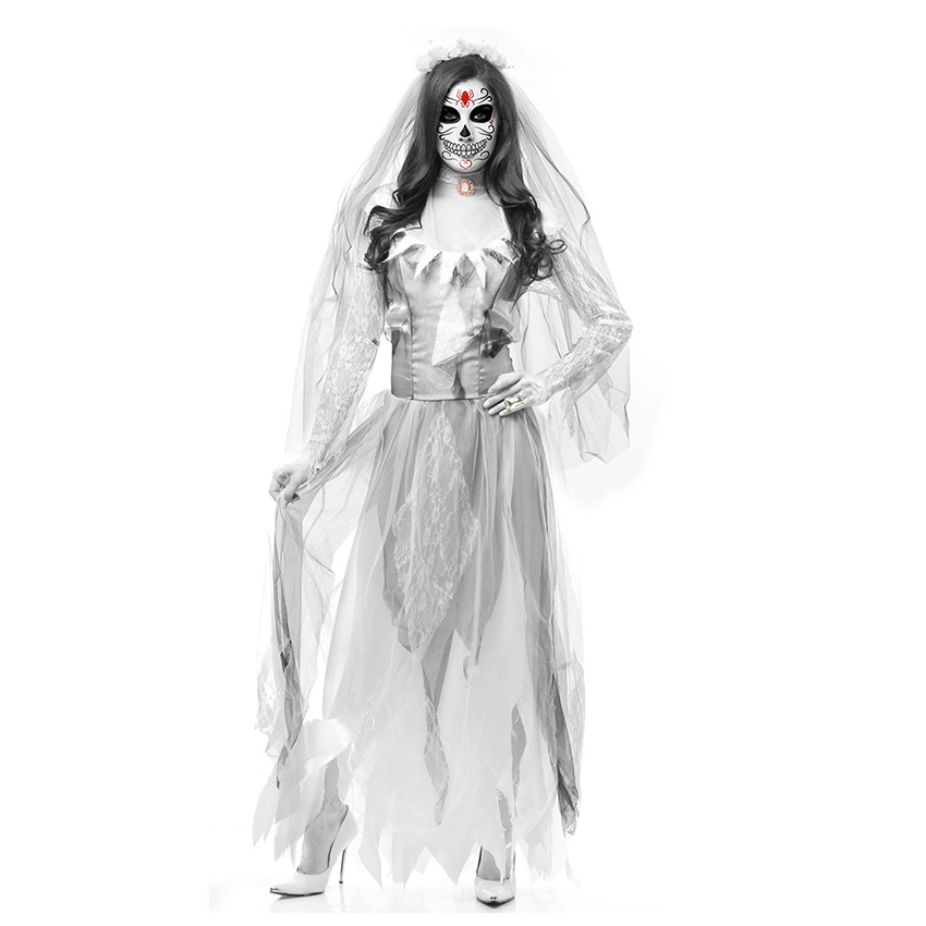 Halloween Dress Zombie Bride Dress Horror Devil Ghost Bride Dress Halloween Costumes for Women Scary Fancy Party Dresses Outfit in Scary Costumes from Novelty Special Use