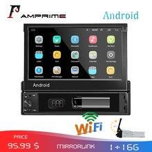AMPrime 1din Autoradio Android wifi Auto Multimedia GPS Navigatie Autoradio Bluetooth Stereo Radio FM AUX USB Auto Audio speler