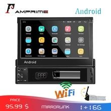 AMPrime 1din רכב רדיו אנדרואיד wifi מולטימדיה לרכב GPS ניווט Autoradio Bluetooth סטריאו רדיו FM AUX USB אוטומטי אודיו נגן