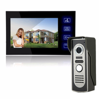 Home Security kit 7 Inch TFT Touch Screen LCD Color Video Door Phone Doorbell Intercom system Night Vision Eye Camera Doorphone