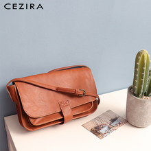 CEZIRA Brand Designer Shoulder Bag Women Messenger Bag Female High Quality Vegan Leather Flap Handbag Ladies Solid CrossBody Bag(China)