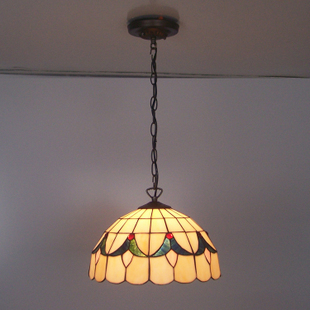 14inch Tiffany Baroque Stained Glass Suspended Luminaire E27 110-240V Chain Pendant lights for Home Parlor Dining Room tiffany baroque sunflower stained glass iron mermaid wall lamp indoor bedside lamps wall lights for home ac 110v 220v e27