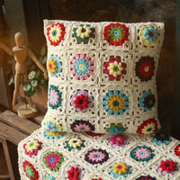 Outdoor Patio Couch Seat Cushion Rocking Chair Decorative Pillows Blue And White Crochet Cushions For Sofa kussens woondecoratie