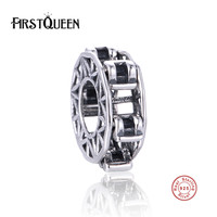 FirstQueen DIY Spacer Charms Silver 925 Original Fits European Bracelets Bangles Factory Wholesale