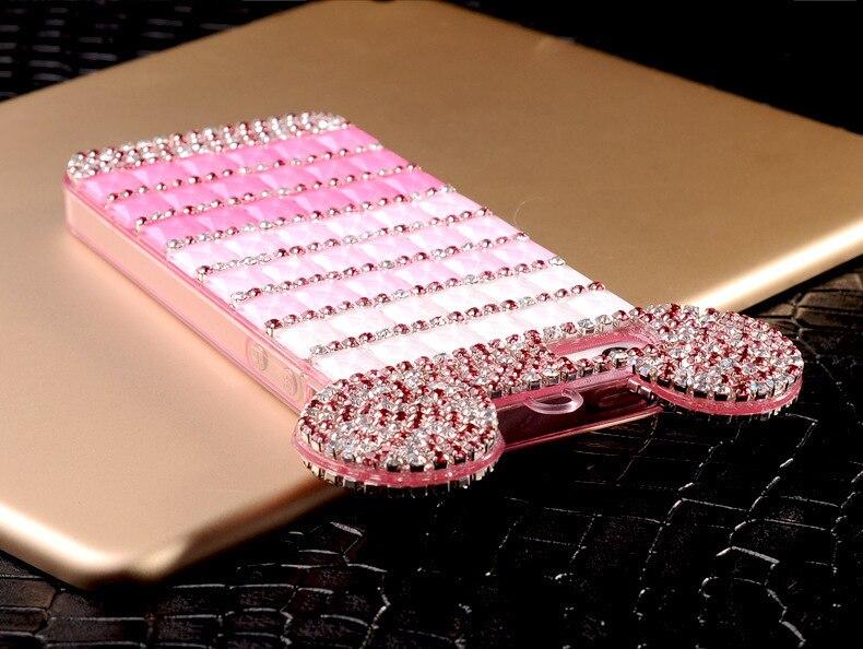 YESPURE Fancy Bling Berlian Mouse Ears Kasus Telepon Mewah untuk - Aksesori dan suku cadang ponsel - Foto 4