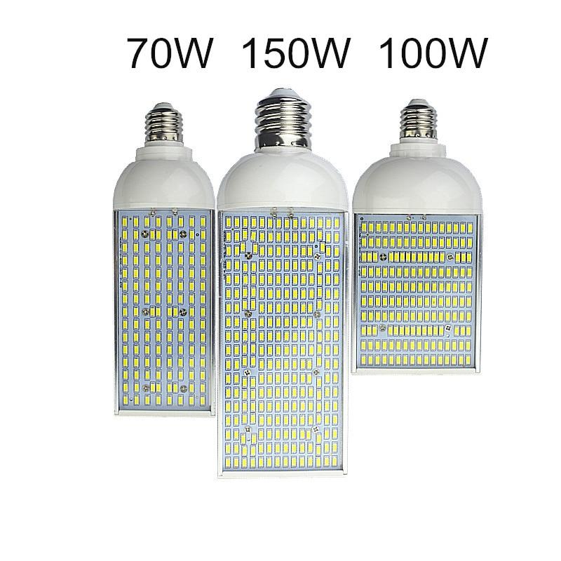 купить 70W 100W 150W LED Corn Bulb E26 E27 E39 E40 Energy saving 110V 220V high power Aluminum Lamp Lampada Stree spot Lighting light недорого