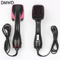 DMWD 220V 2 in 1 Negative ion comb multifunctional electric blower hair comb hair dryer dry and wet Straight hair artifact