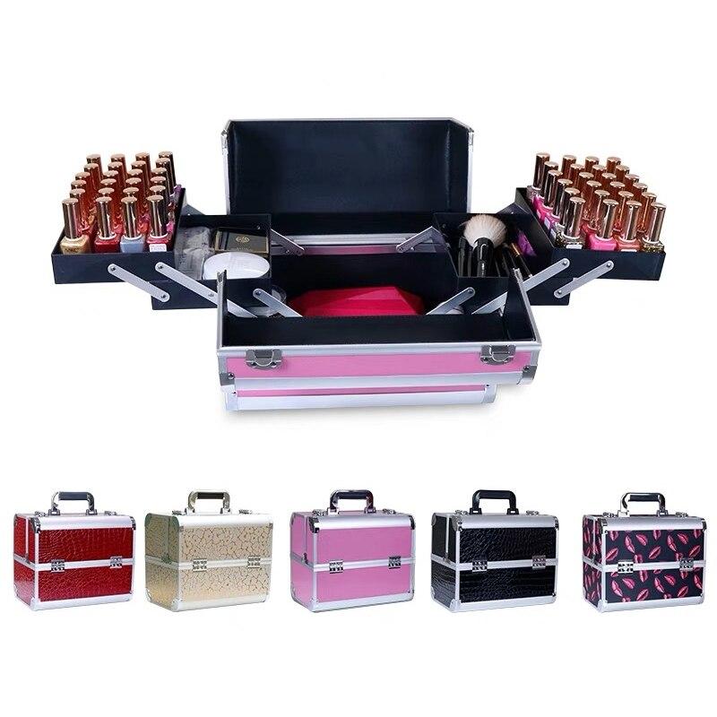 Luggage Suitcase Toolbox Makeup Nails Girls Beauty-Box Foldable Fashion New Tattoo-Hangbag