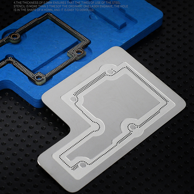 Kit de pochoir de reballage mécanique 3D BGA pour iPhone X/XS/XS MAX carte mère couche moyenne plantation plaque de gabarit détain filet à souder