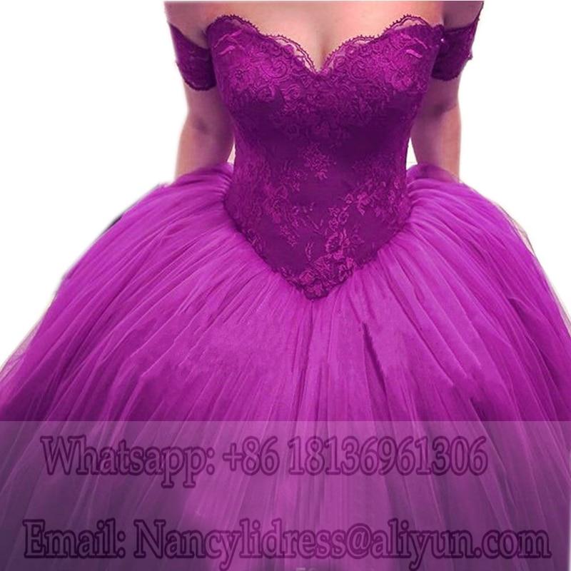 Borgoña vestidos de bola de baile vestidos de novia de encaje ...
