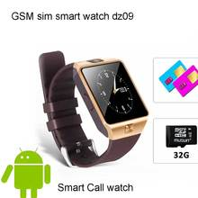 2017 gsm sim smart watch dz09 with call phone sport pedometer sedentary remind sync function Sleep monitor sim smart watch DZ09