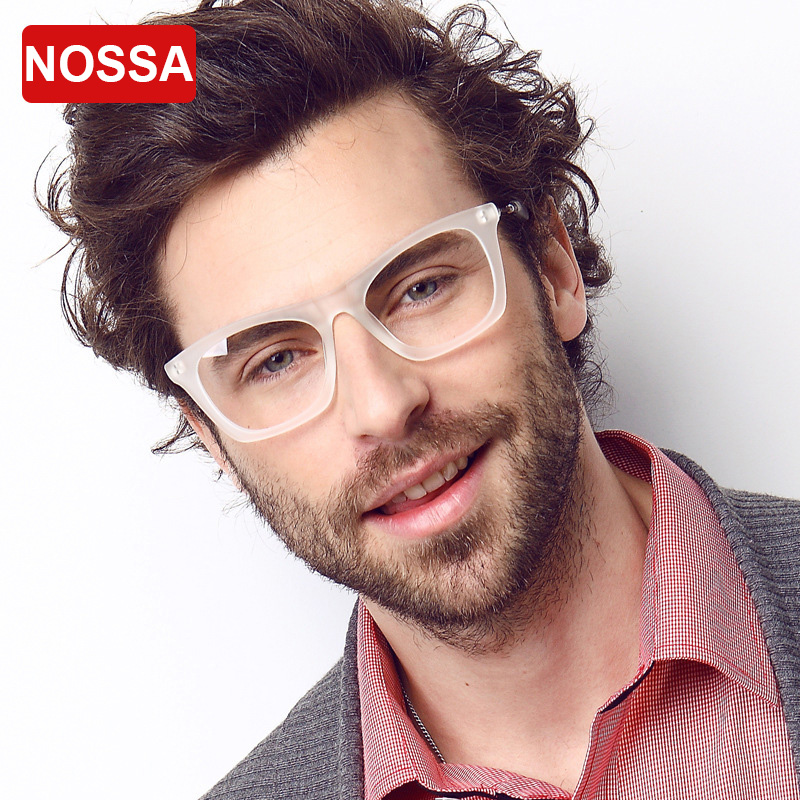 nossa brand designer clear frame glasses elegant fashion mens prescription eyewear frames male eyeglasses transparent goggles
