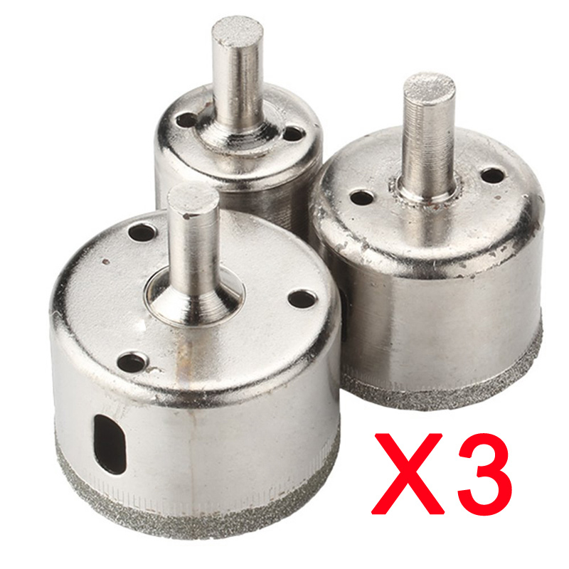 3pcs 28/38/45mm Diamond Hole Saw Marble Drill Bit Tile Ceramic Glass Porcelain --M25 stones bricks concrete cement stone 50mm wall hole saw drill bit 200mm round rod