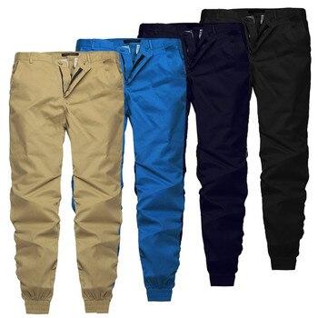 INCERUN 2019 Plain Pants Men Casual Trousers Joggers Slim Fit Man Clothes Pants With Elastic Cuff Clothing Pantalon Hombre Pants