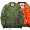 Nuevos hombres 6XL Air Force One hombres de la chaqueta de vuelo de LA NASA ma-1 chaqueta de la capa engrosamiento de fertilizantes comercio exterior Escudo Táctico masculino