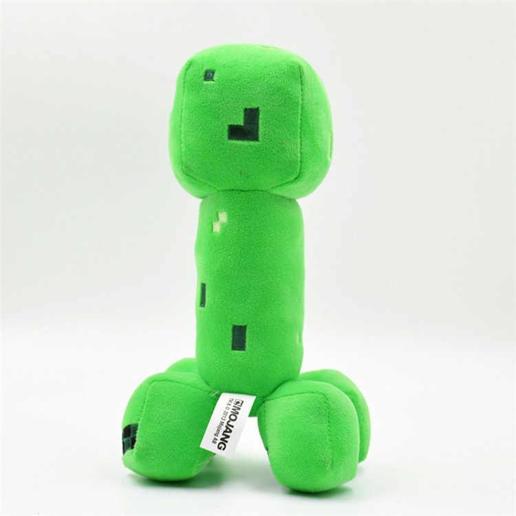 18cm Minecrafted Creeper Enderman Plush Toys Minecrafted Lobo Steve Zumbi Esqueleto Aranha de Pelúcia Brinquedos de Pelúcia para As Crianças