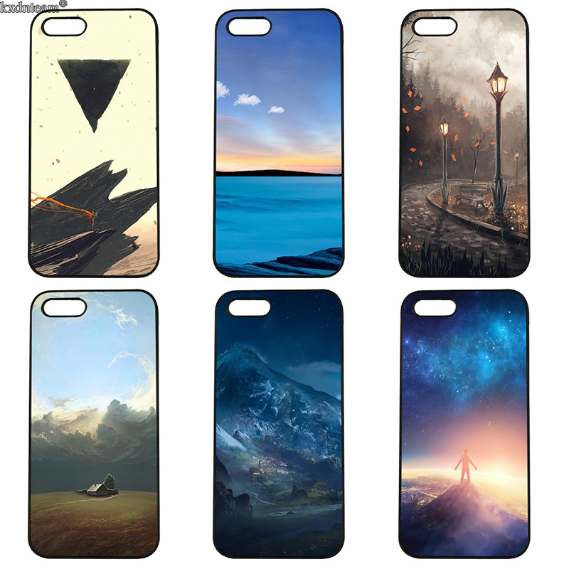 Beautiful Landscape Hard PC Mobile Phone Cases Cover Fitted for iphone 8 7 6 6S Plus X 5S 5C 5 SE 4 4S iPod Touch 4 5 6 Shell