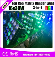 2pcs/lot Disco Light 16 Head 30W RGB LED Pixel Panel Blinder Matrix Wash