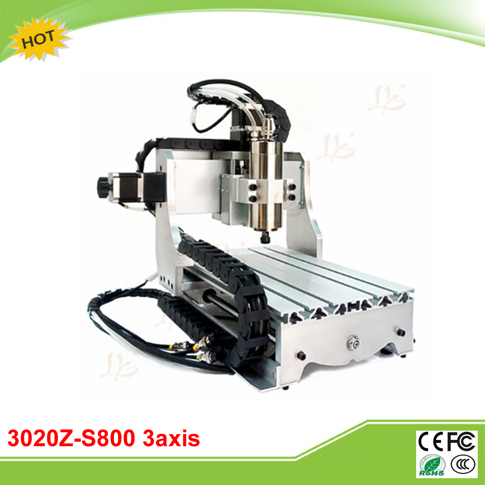 CNC 3020Z-S800 3axis mini CNC milling machine 800W water cooling spindle free tax to EU cnc 3040z s 3 axis mini cnc router with 800w vfd water cooled spindle engraving lathe machine free tax to eu
