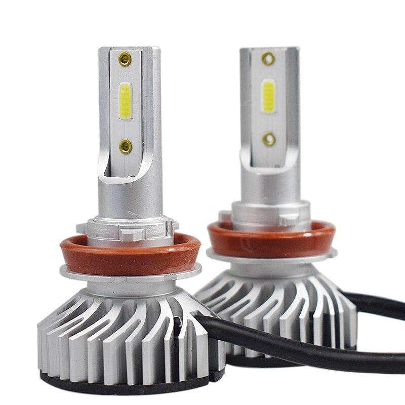 2PCS Car 60W 8000LM LED Headlight KIT H1 H7 H8 H9 H11 9005 HB3 9006 HB4 UK H