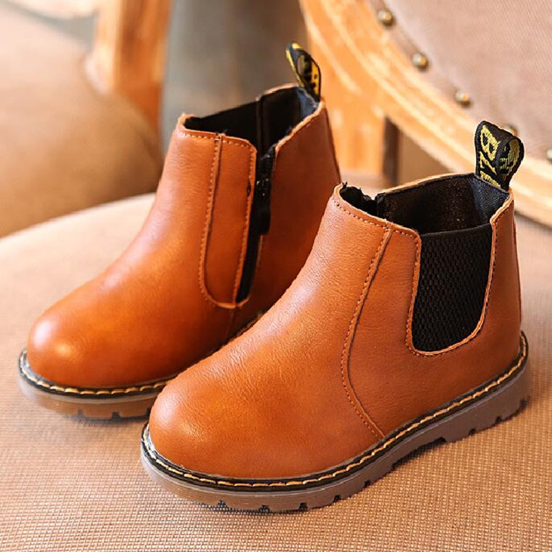 2017-New-Kids-Autumn-Baby-Boys-Oxford-Shoes-For-Children-Dress-Boots-Girls-Fashion-Martin-Boots-Toddler-Pu-Leather-Boots-Black-2