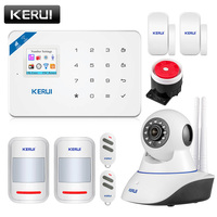 KERUI W18 Wireless WiFi GSM Alarm System Android ios APP Control home Security Alarm System with PIR motion sensor IP camera