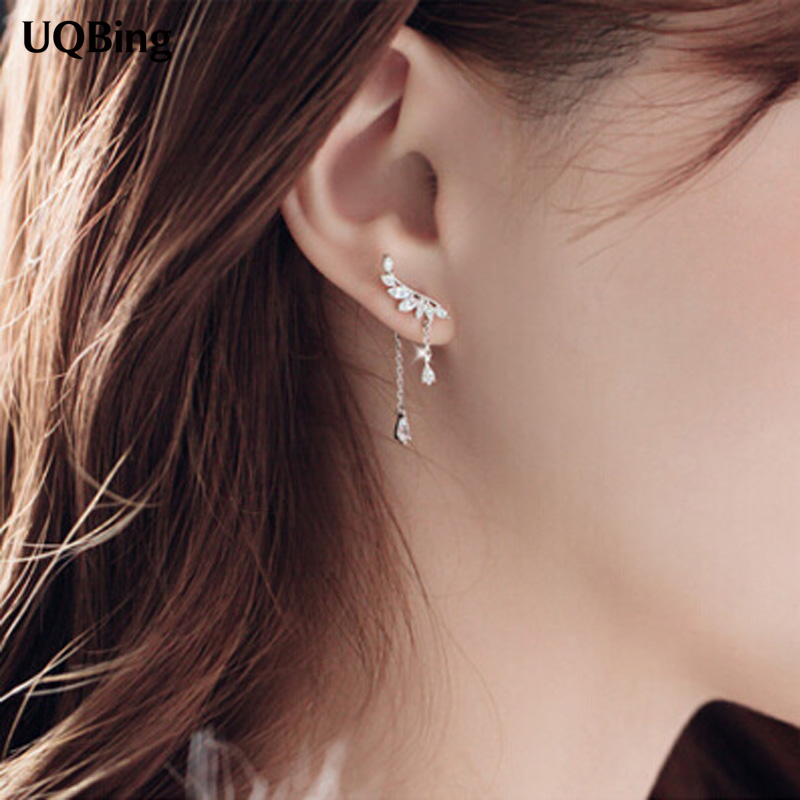 все цены на Tassel Stud Earrings Fashion 925 Silver Stud Earrings Jewelry Pendientes Brincos Fashion Jewelry Drop Shipping